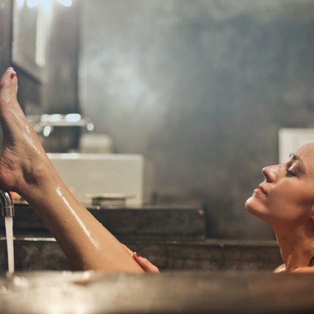 Photo of woman in bathtub